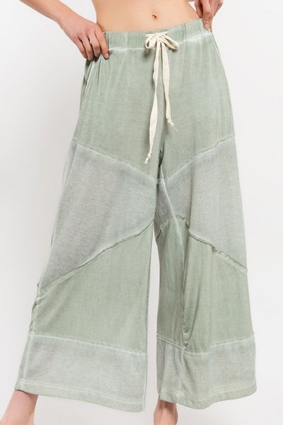 POL LOOSE KNIT CULOTTE PANTS
