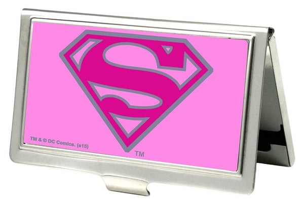 BUCKLE DOWN BUSINESS CARD HOLDER - SUPERMAN FCG PINK