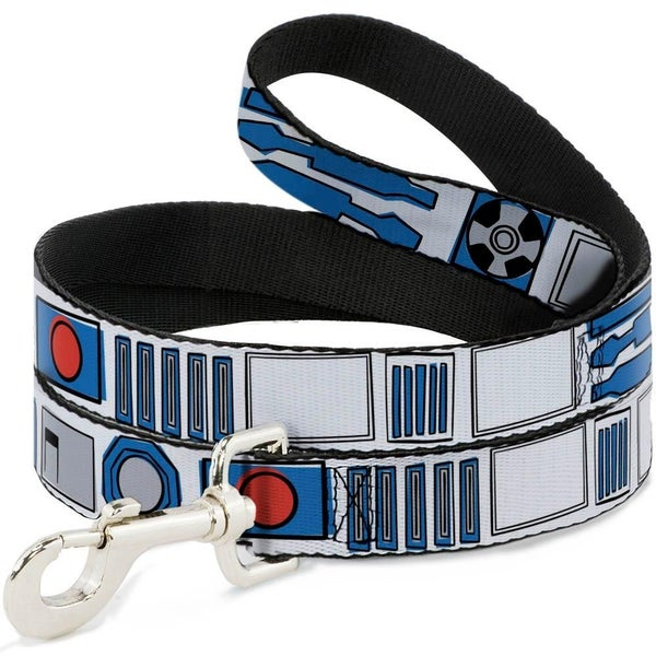 BUCKLE DOWN DOG LEASH - STAR WARS R2-D2 BOUNDING PARTS4 WHITE/BLACK/BLUE/GRAY/RED