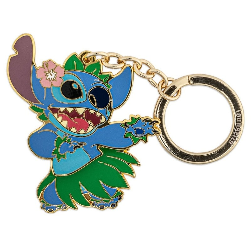 LOUNGEFLY DISNEY LILO AND STITCH HULA STITCH KEYCHAIN