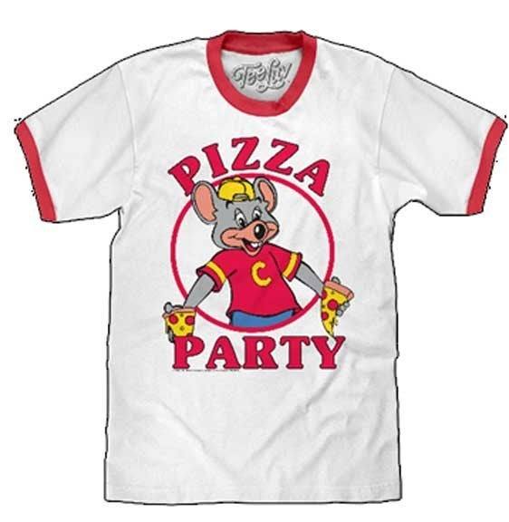 CHECK E CHEESE PIZZA PARTY GRAPHIC TEE
