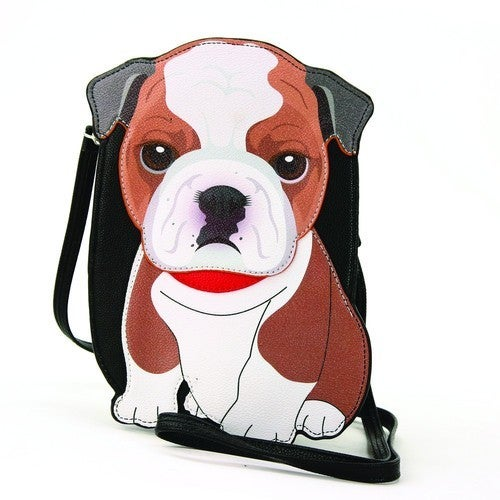 Bulldog Cross Body Bag in Vinyl Material