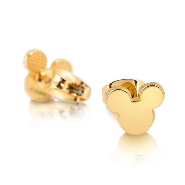 COUTURE KINGDOM MICKEY MOUSE STUD EARRINGS - YELLOW GOLD