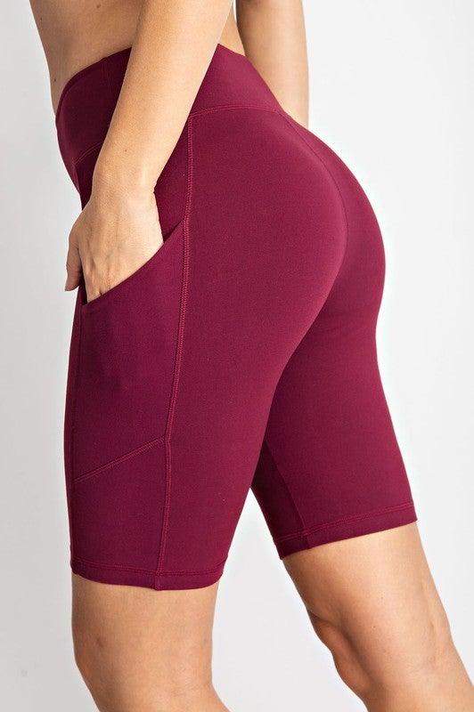 RAE MODE High-Rise Butter Biker Shorts w/ Side Pockets