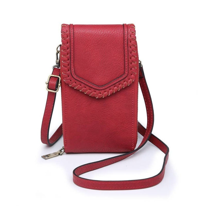 Whipstitch Touch Screen Crossbody
