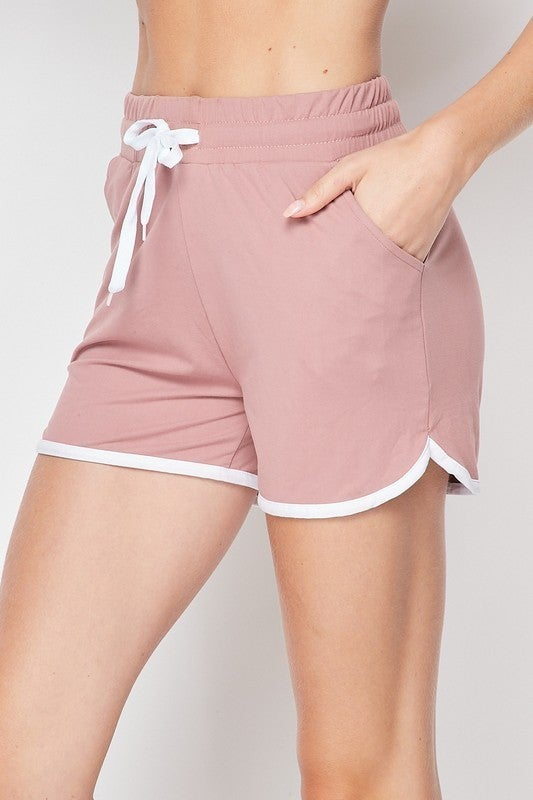SOLID DOLPHIN SHORTS W/ WHITE TRIM
