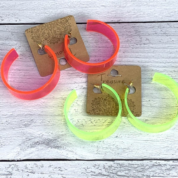 NEON CIRCLE EARRINGS