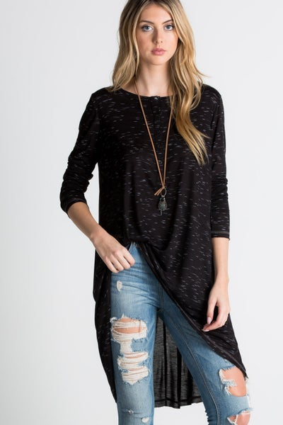 RAE MODE 3/4 Sleeve Relaxed Fit Tunic Top