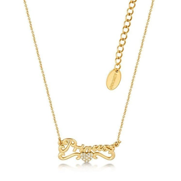 COUTURE KINGDOM PRINCESS SCRIPT NECKLACE - YELLOW GOLD