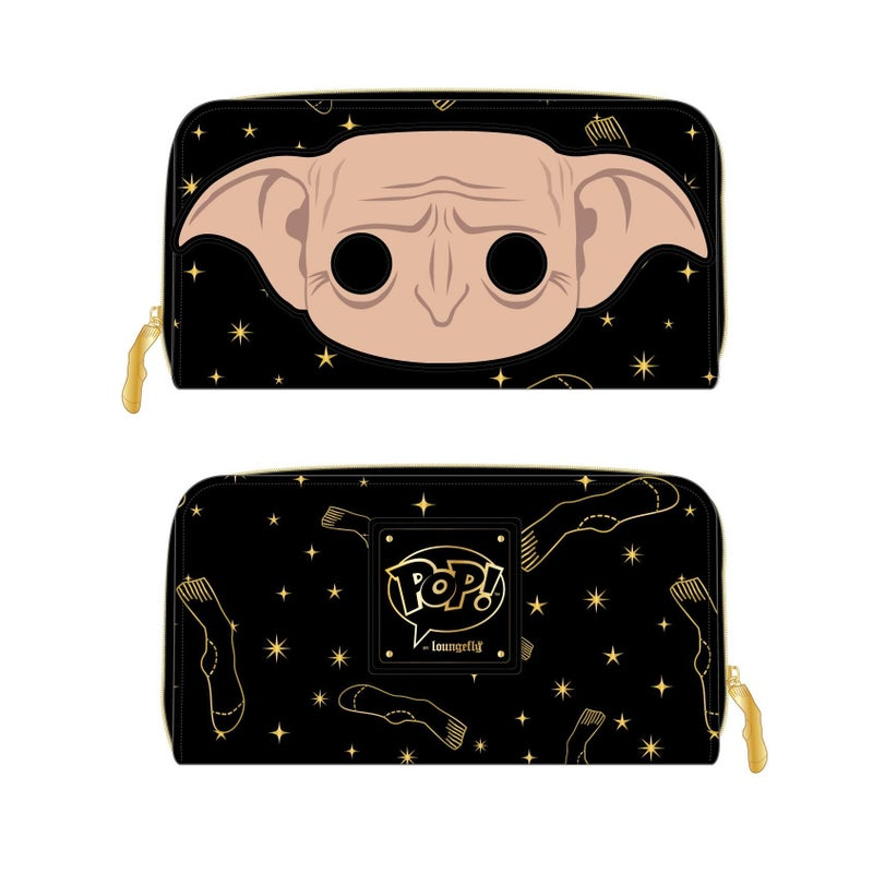 LOUNGEFLY HARRY POTTER DOBBY HEAD ZIP AROUND WALLET