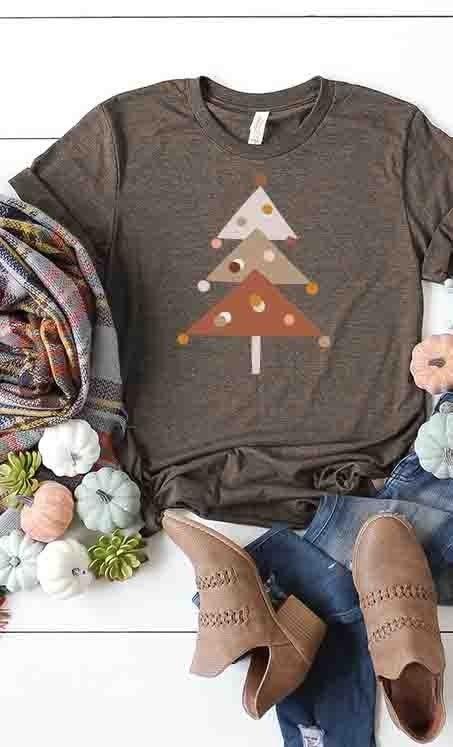 Modern triangle tree tee