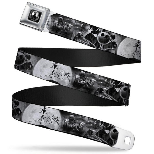 BUCKLE DOWN SEATBELT BELT - JACK & OOGIE BOOGIE SCENES GRAYS