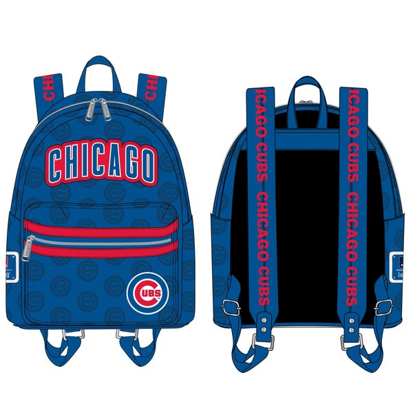 LOUNGEFLY MLB CHICAGO CUBS LOGO MINI BACKPACK (PRE-ORDER, JUNE 2021)