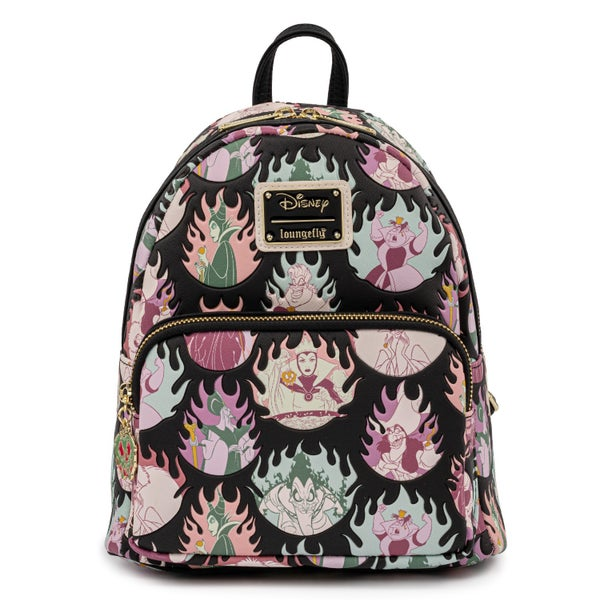 LOUNGEFLY DISNEY VILLAINS PASTEL FLAMES AOP MINI BACKPACK (PRE-ORDER, MAY 2021)