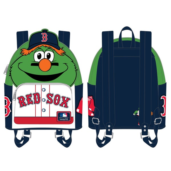 LOUNGEFLY MLB BOSTON RED SOX WALLY THE GREEN MONSTER COSPLAY MINI BACKPACK (PRE-ORDER, JUNE 2021)