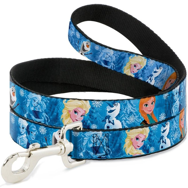 BUCKLE DOWN DOG LEASH - FROZEN CHARACTER POSES BLUES