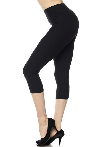 BUTTERY SOFT SOLID COLOR CAPRI LEGGINGS
