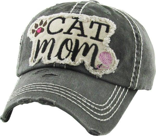 CAT MOM VINTAGE BASEBALL CAP HAT