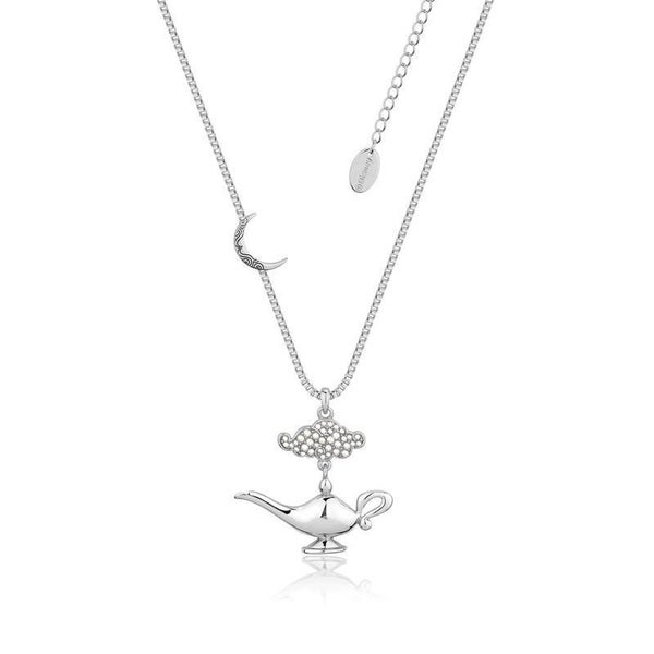 COUTURE KINGDOM Disney Aladdin Genie Lamp in the Night Necklace - WHITE GOLD