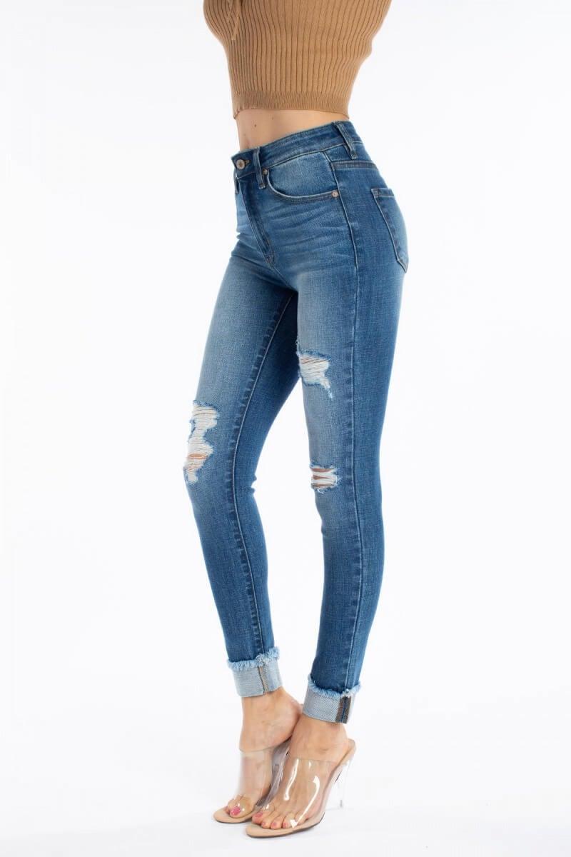KanCan High Rise Ankle Skinny Medium Wash