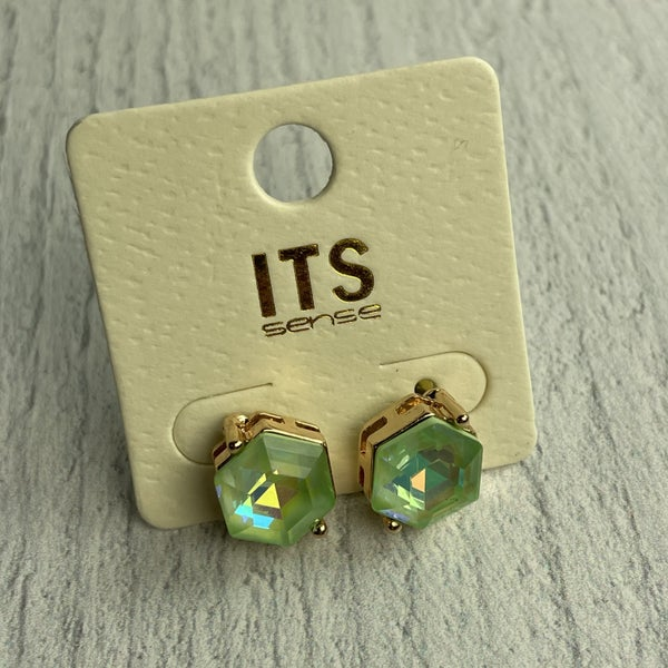 MINT FAUX DIAMOND EARRINGS