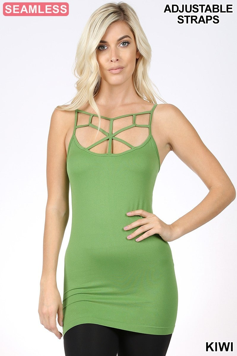 SEAMLESS WEB DETAIL FRONT CAMI