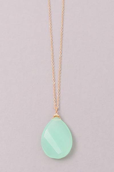 MINT STONE NECKLACE