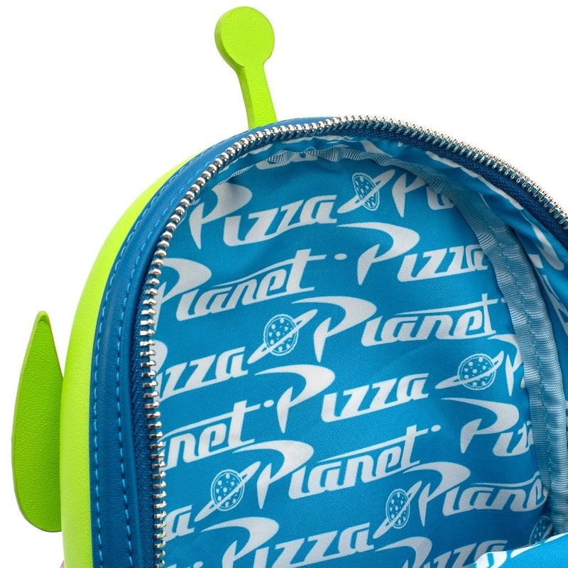 LOUNGEFLY X PIXAR TOY STORY PIZZA PLANET ALIEN MINI BACKPACK