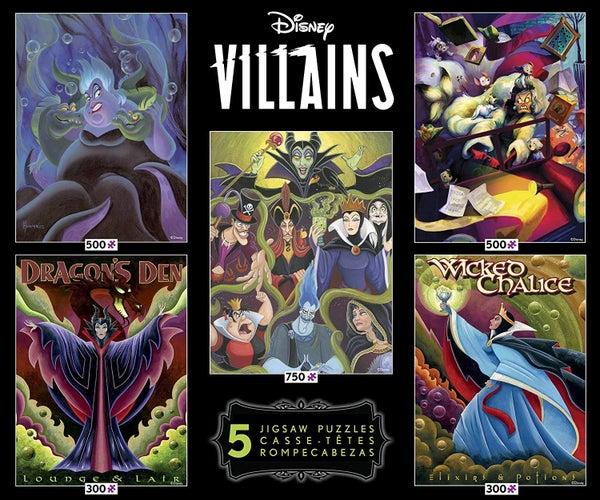 DISNEY PUZZLE 5 PACK - VILLAINS
