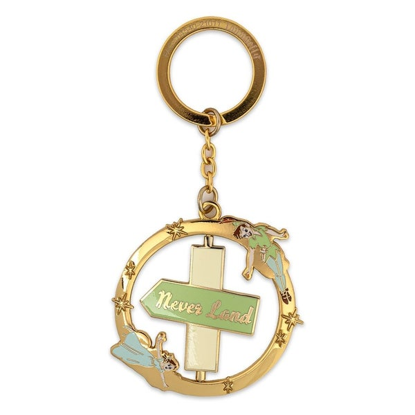 LOUNGEFLY DISNEY PETER PAN SPINNING KEYCHAIN