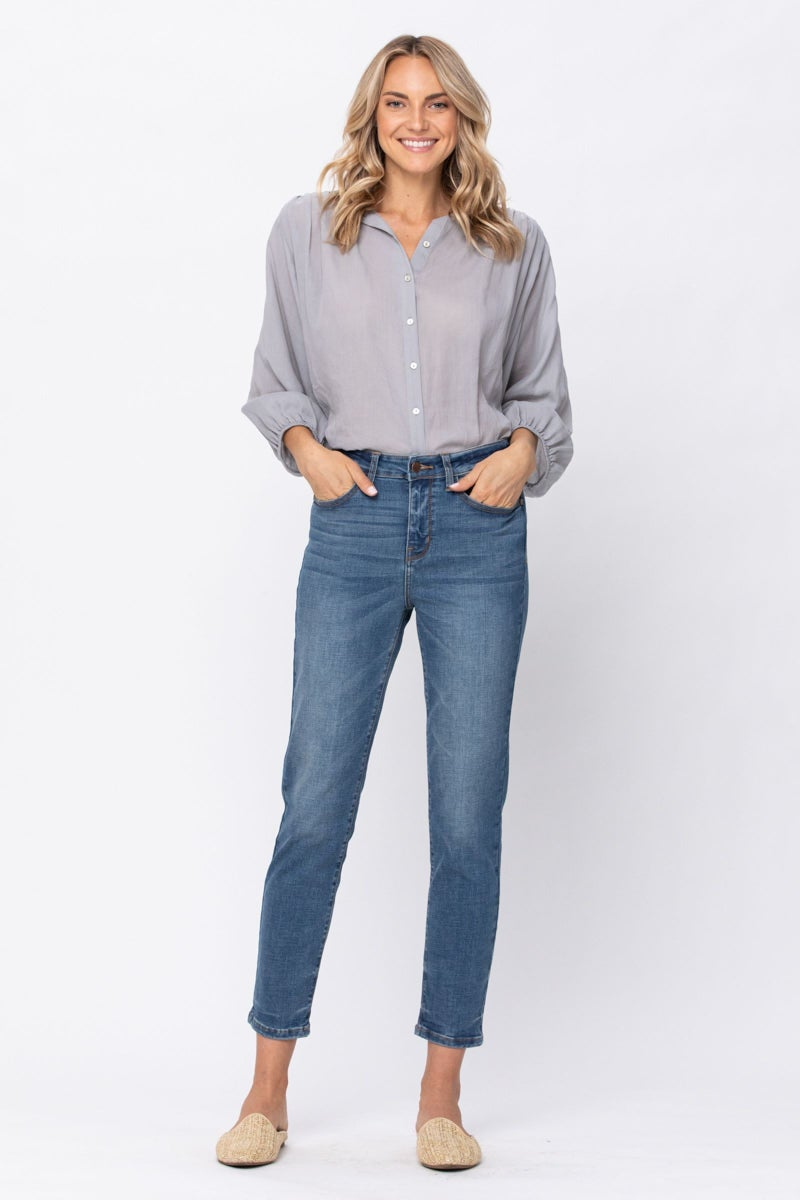 JUDY BLUE HIGH WAISTED RELAXED FIT
