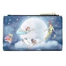DISNEY LOUNGEFLY PETER PAN SECOND STAR FLAP WALLET