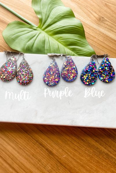Chunky Glitter Earrings
