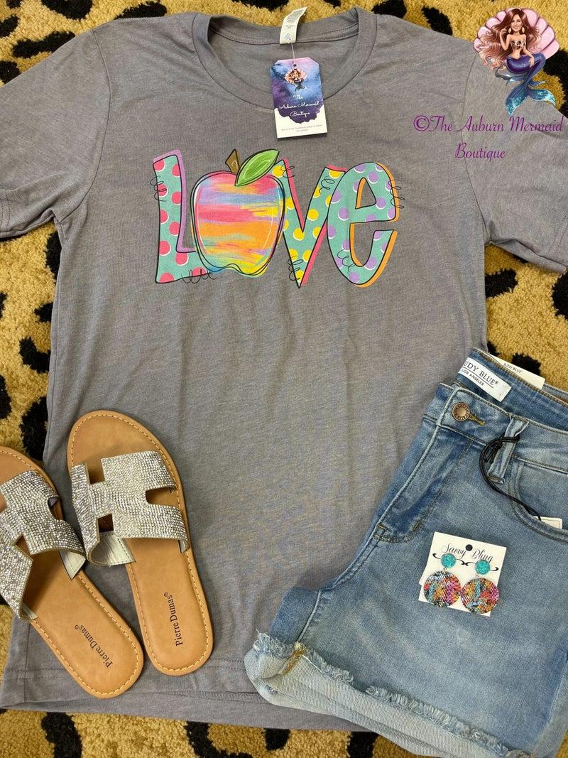Teacher Love Ash Tshirt *Final Sale*