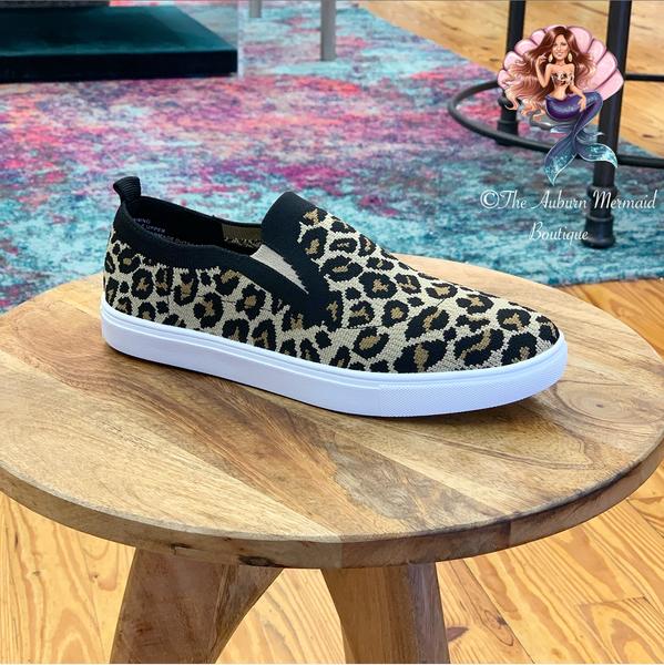 Leopard Knitten Sneakers