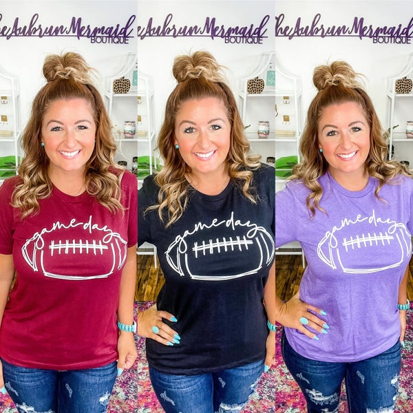 Cursive Game Day Graphic Tee