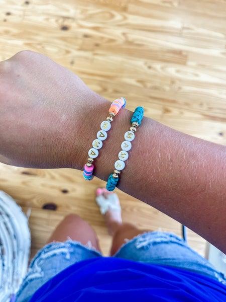 Mama Beaded Heishi Bracelet