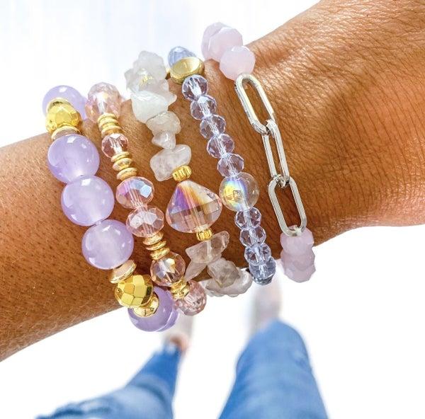 Periwinkle Pink Bracelet Set
