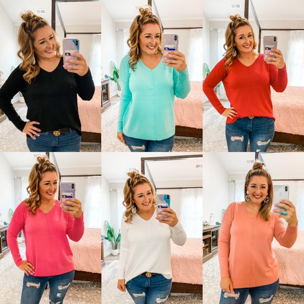 Cashmere Feel Brushed Knit Sweaters