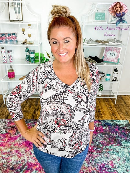 Start the Day Paisley Top
