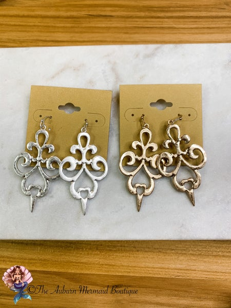 Scroll Geometric Earrings