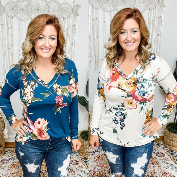 All Eyes On You Floral Top