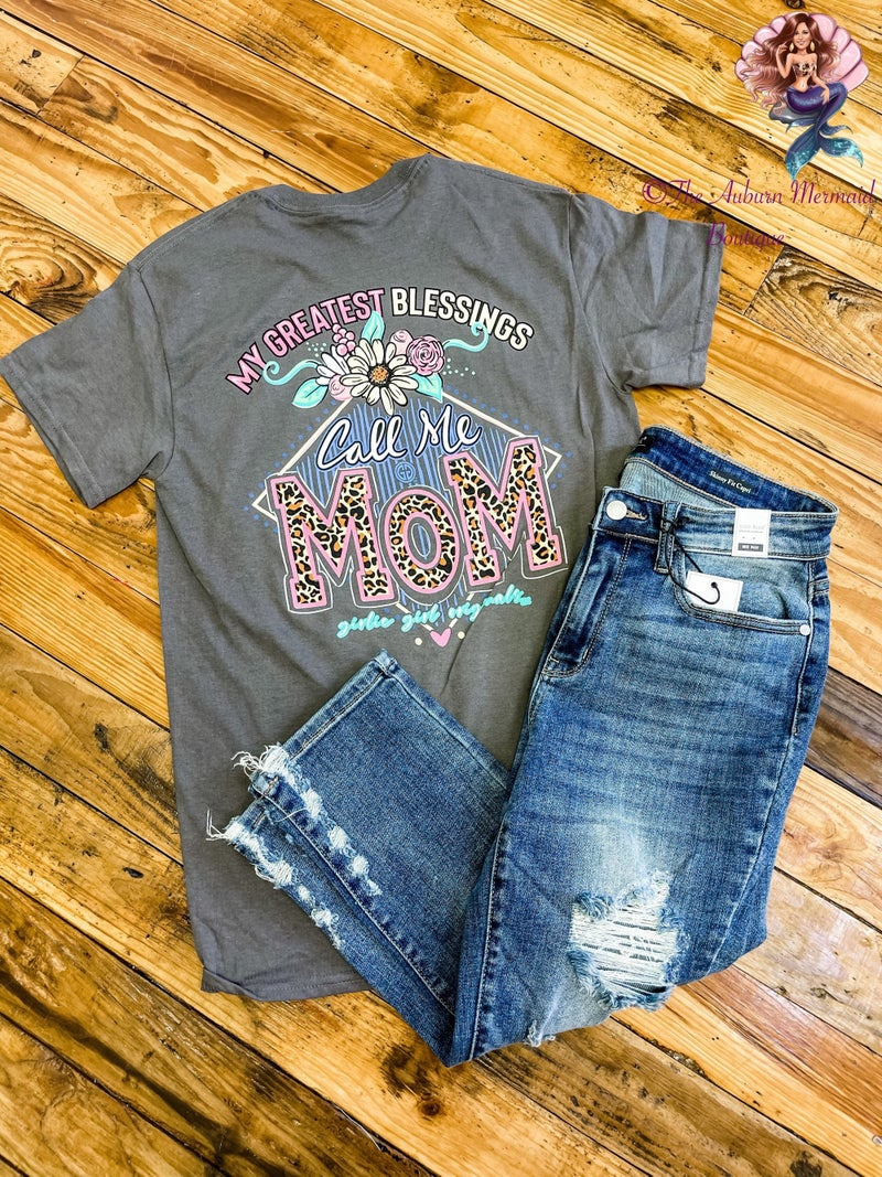 Greatest Blessings Call Me Mom Graphic Tee