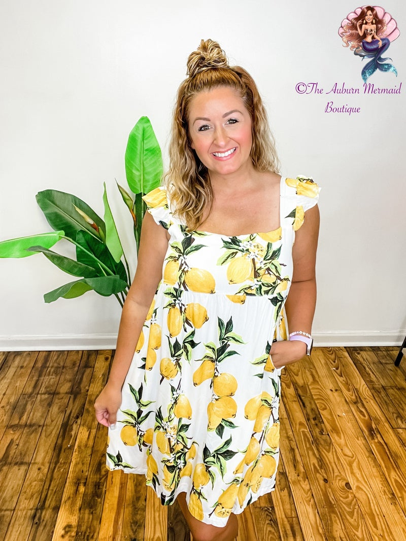 Lemon Squeezy Sun Dress*Final Sale*