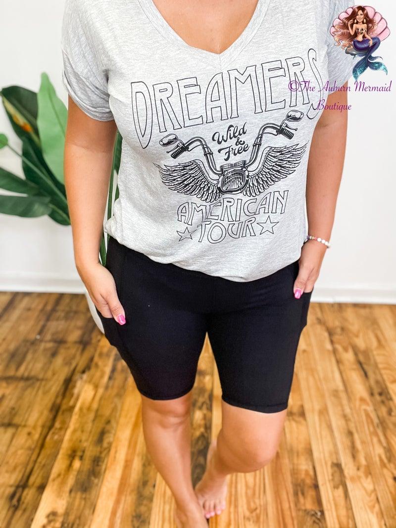 Yoga Biker Shorts with Pockets