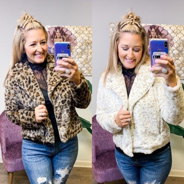 Animal Print Fuzzy Jacket