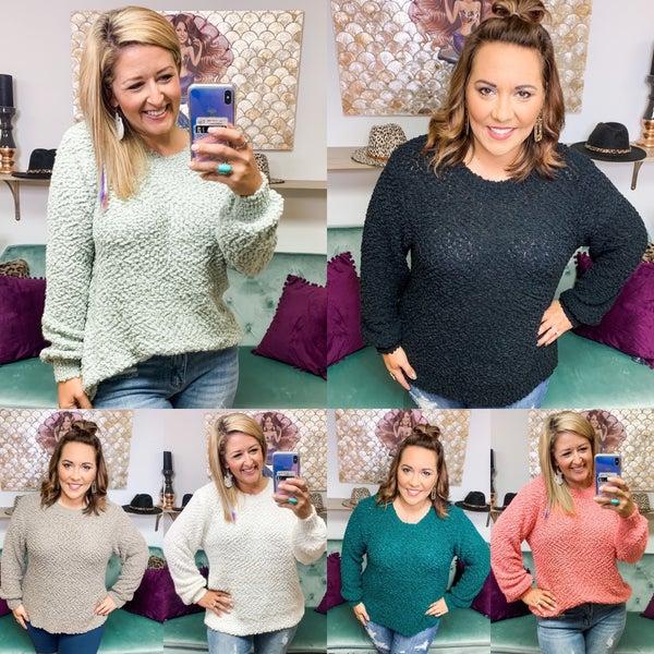 Popcorn Bubble Sweaters