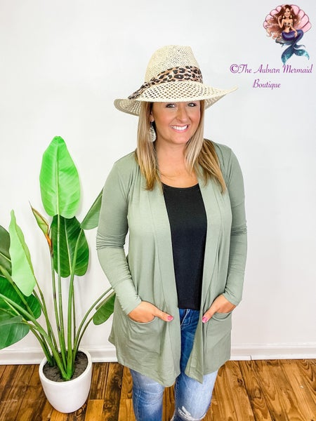 Floppy Hat With Leopard Ribbon
