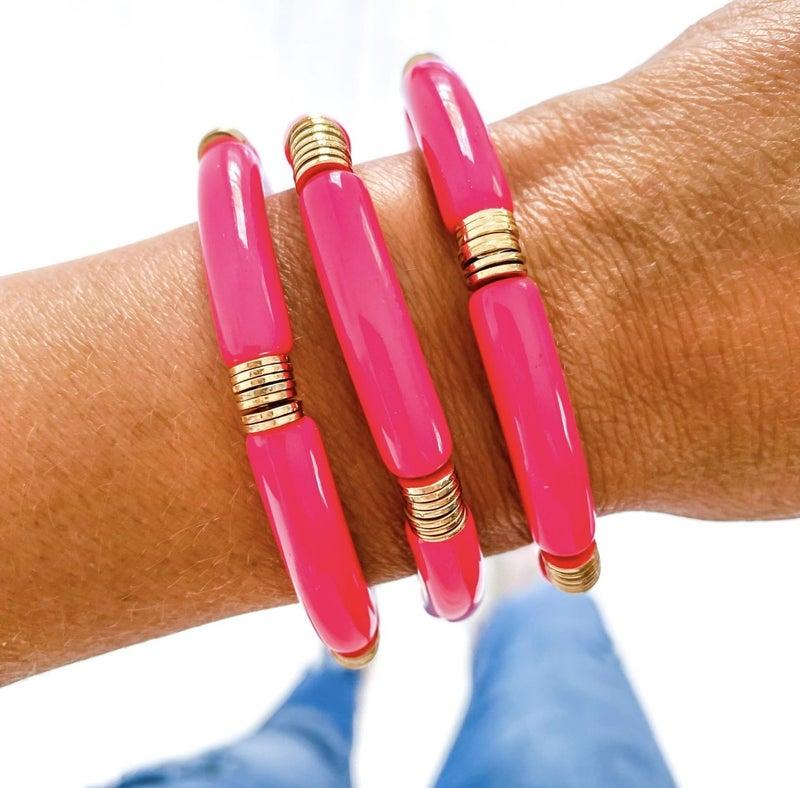 Acrylic Bamboo Bracelets
