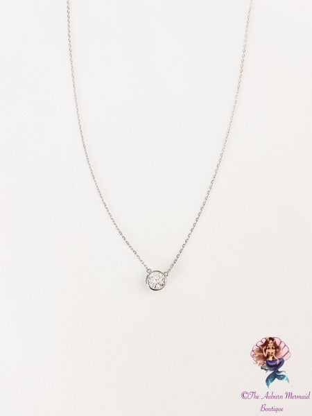 Classic Sterling Silver CZ Necklace